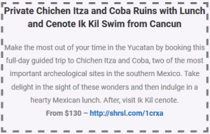 private chichen itza and coba ruins with lunch and cenote ik kil from cancun coupon