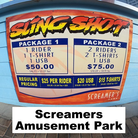 Daytona Beach Screamers Amusement Park Slingshot & Vomatron