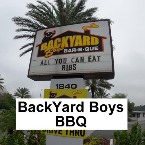 Backyard BBQ South Daytona Restaurant header