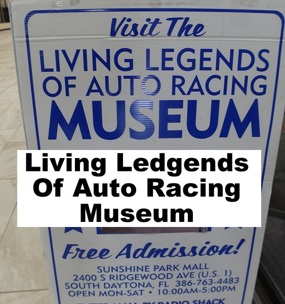 Living Lessons Of Auto Racing Museum South Daytona header